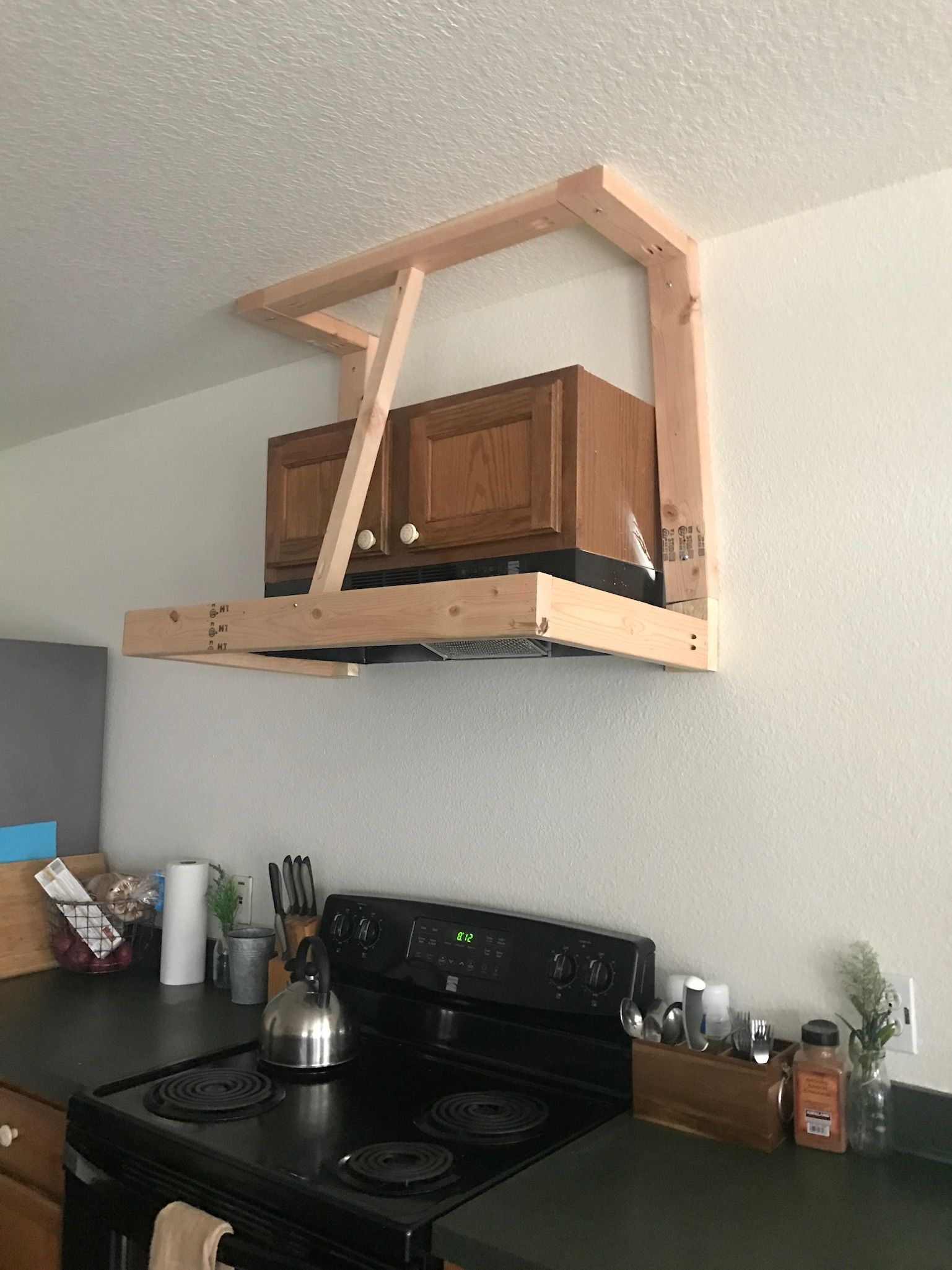 Photo of DIY Rustic Vent Hood Cover – Rough Around the Edges