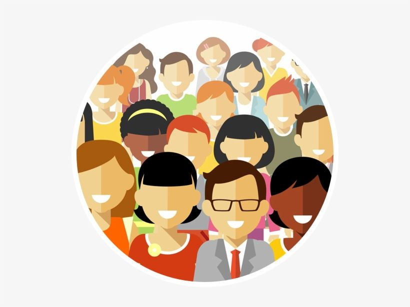 Download Crowd Clipart Person Icon People Round Icon Png Png Image For Free Search More High Quality Free Transparent Person Icon Clip Art Silhouette People