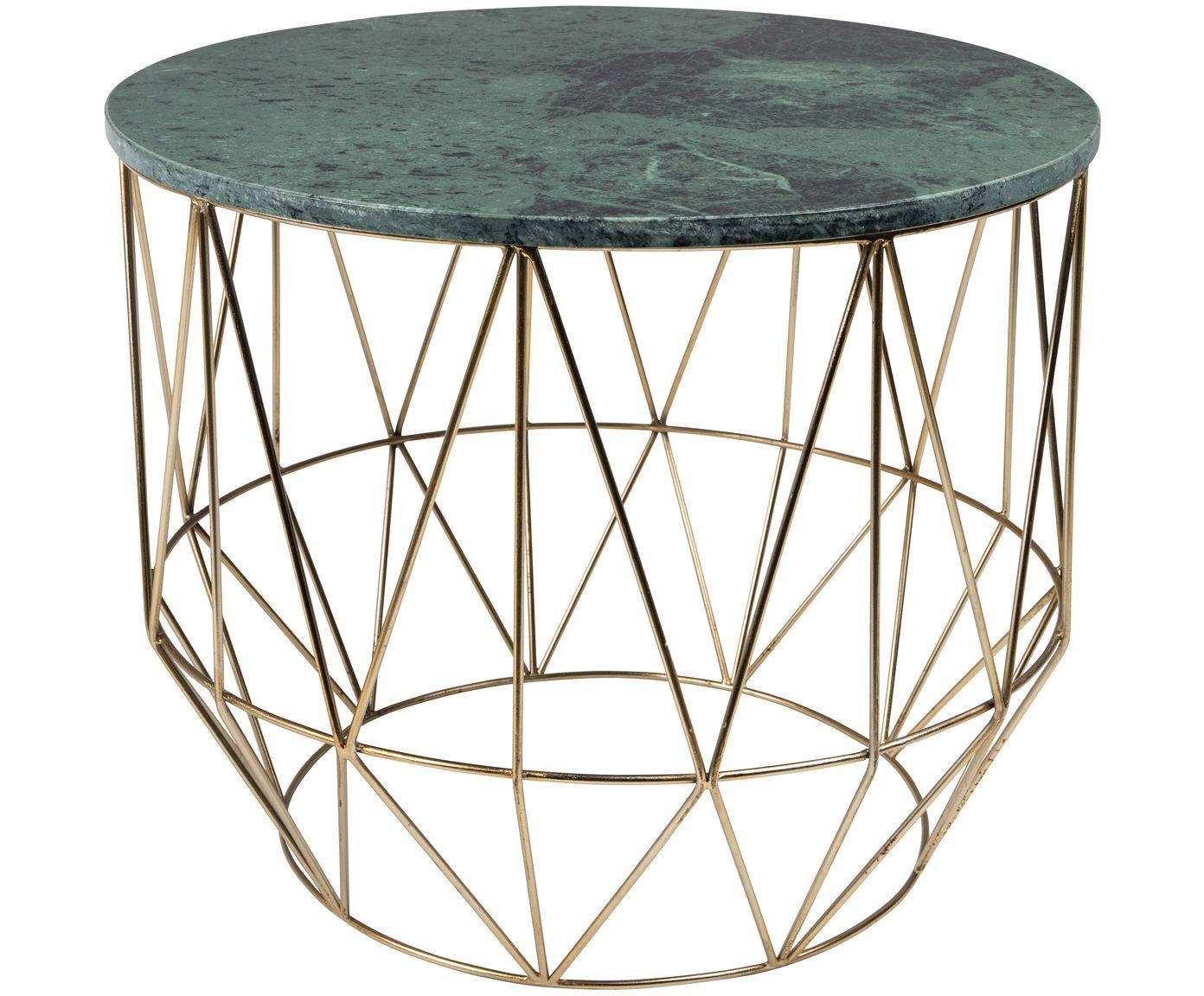 Machen Sie Ihr Wohnzimmer Mit Dem Couchtisch Boss Gruner Marmor Tischplatte Und Messingfarbenem Gestell