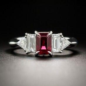Platinum Ruby And Diamond Art Deco Style Ring Helvetica Pinterest