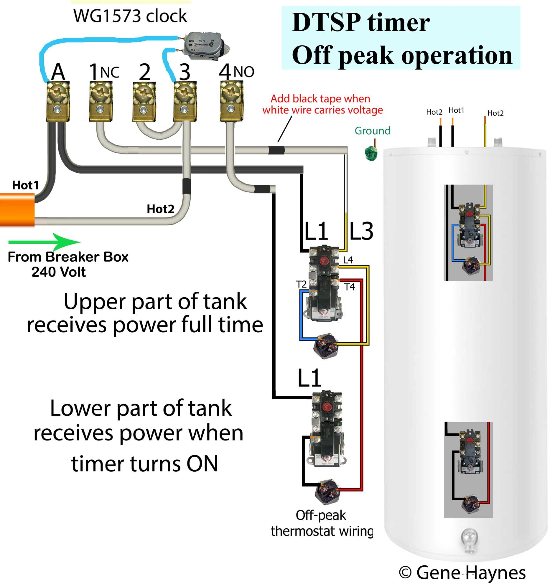 How To Wire Off Peak Water Heater Water Heater Thermostat Water Heater Heater