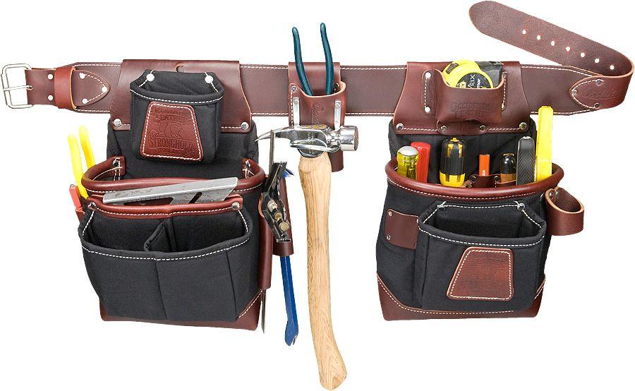 Large Occidental Leather 8585LG Heritage FatLip 25 Pocket Tool Bag Belt Set