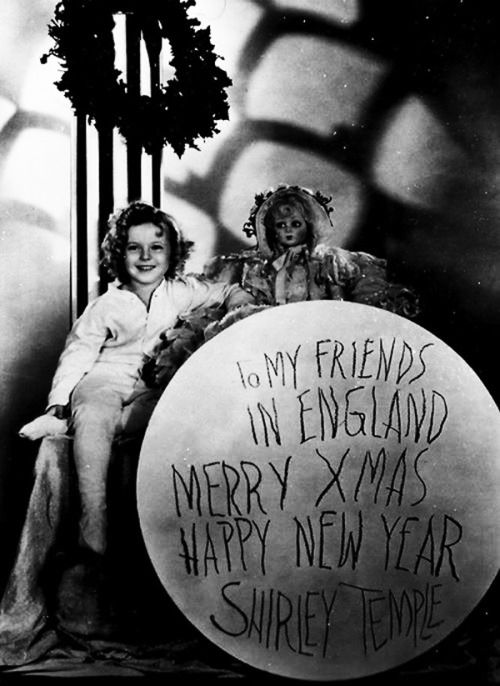 Shirley Temple's Christmas message to her English fans, 1935.