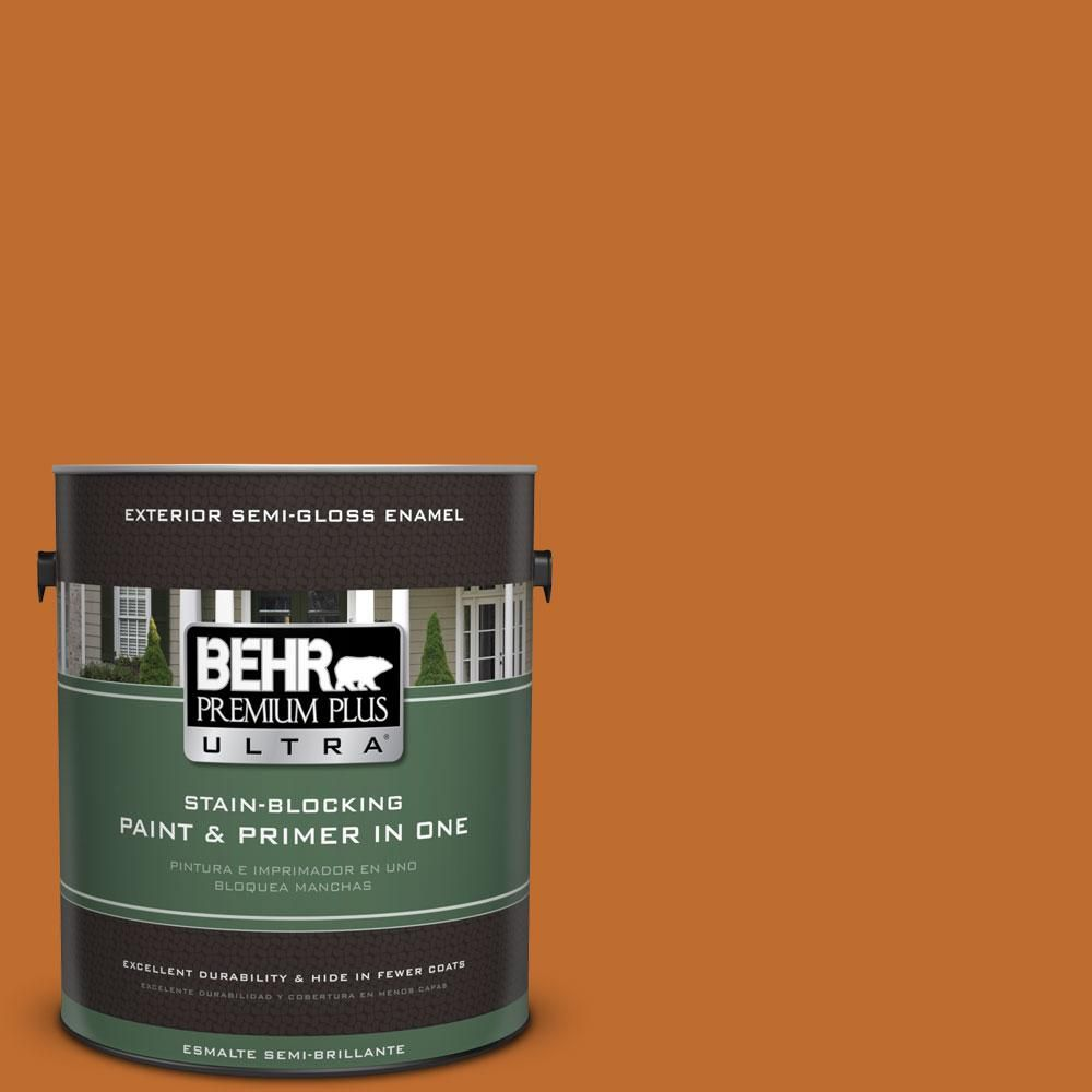 BEHR Premium Plus Ultra 1-gal. #S-H-260 Tiger Stripe Semi-Gloss Enamel Exterior Paint