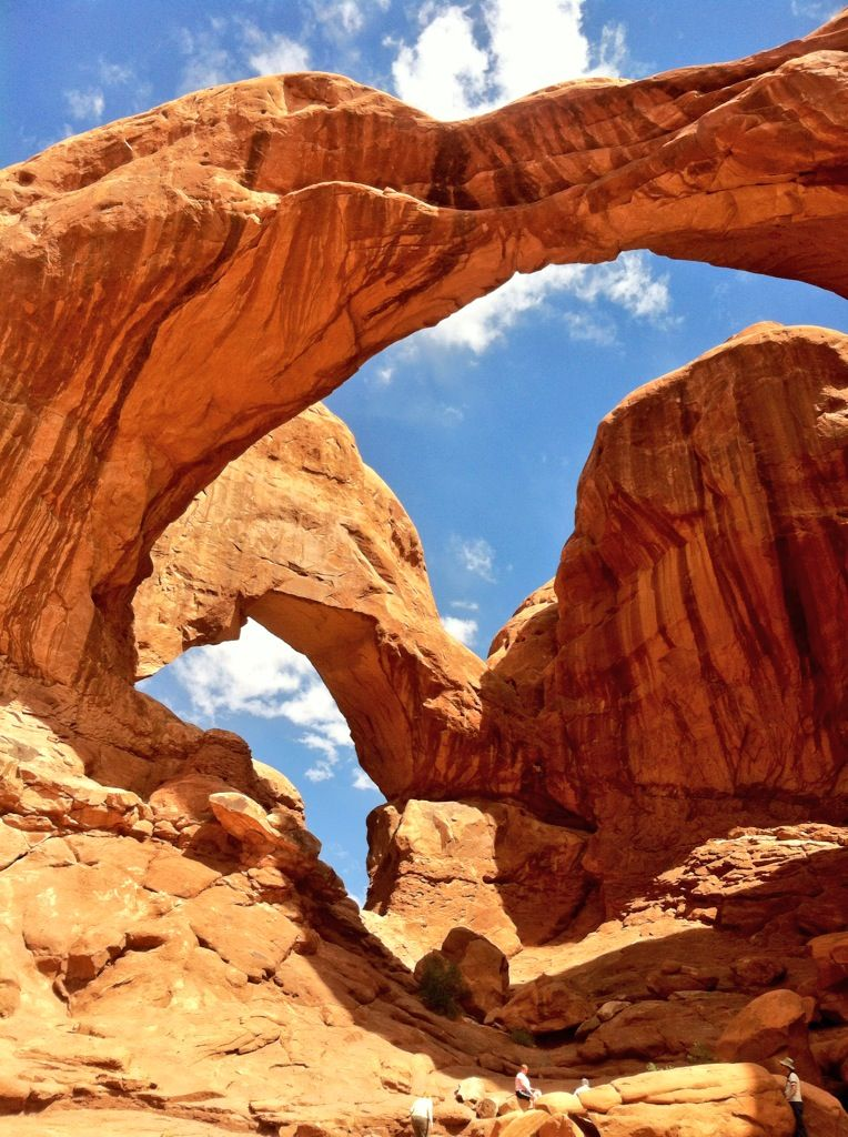 #ArchesNationalPark - #Moab, #Utah.  Hiked it.  It was awesome.  Rappelled off an arch, not this one...but was amazing.