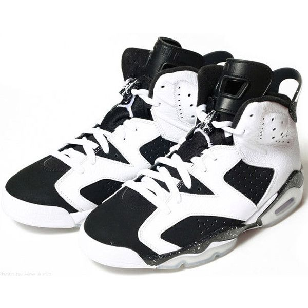 "5d81dcef68e2c9 Air Jordan VI (6) Retro ""Oreo"" Now Available ❤ liked on Polyvore featuring  shoes and jordans"