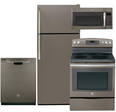 General Electric Ge Gtm18gbees4pckit1 Slate Series 28 Freestanding Kitchen Appliance Packages Sl Kitchen Appliance Packages Freestanding Kitchen Slate Kitchen