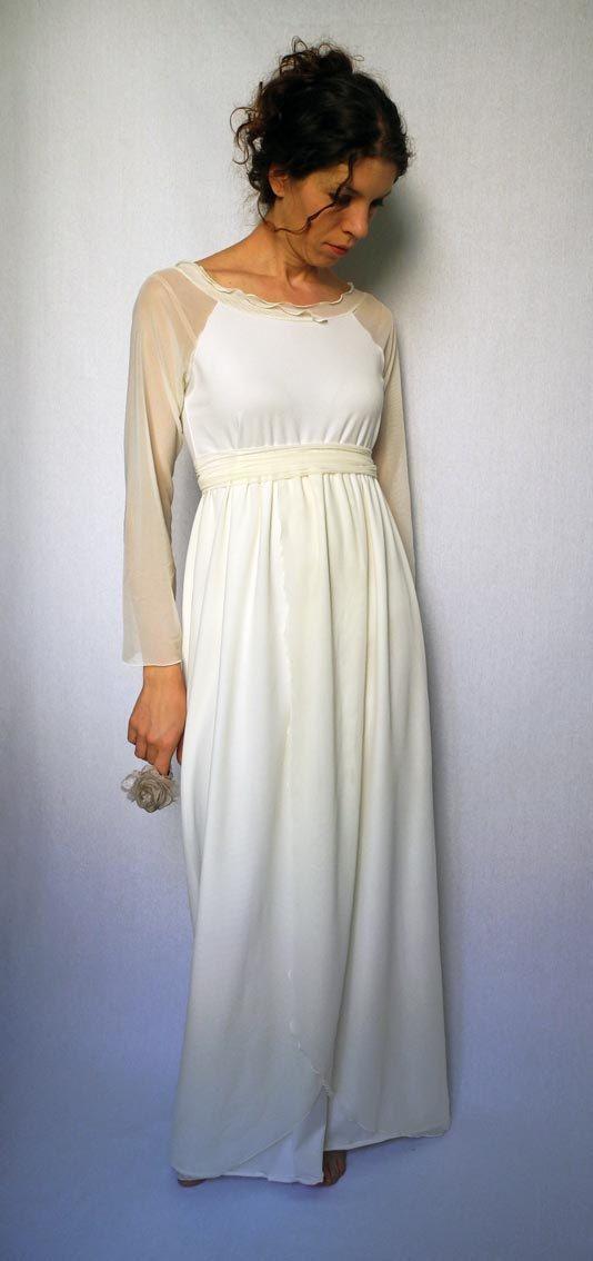 Jersey Wedding Dress Alternative Formal By Yamihandmade 90 00