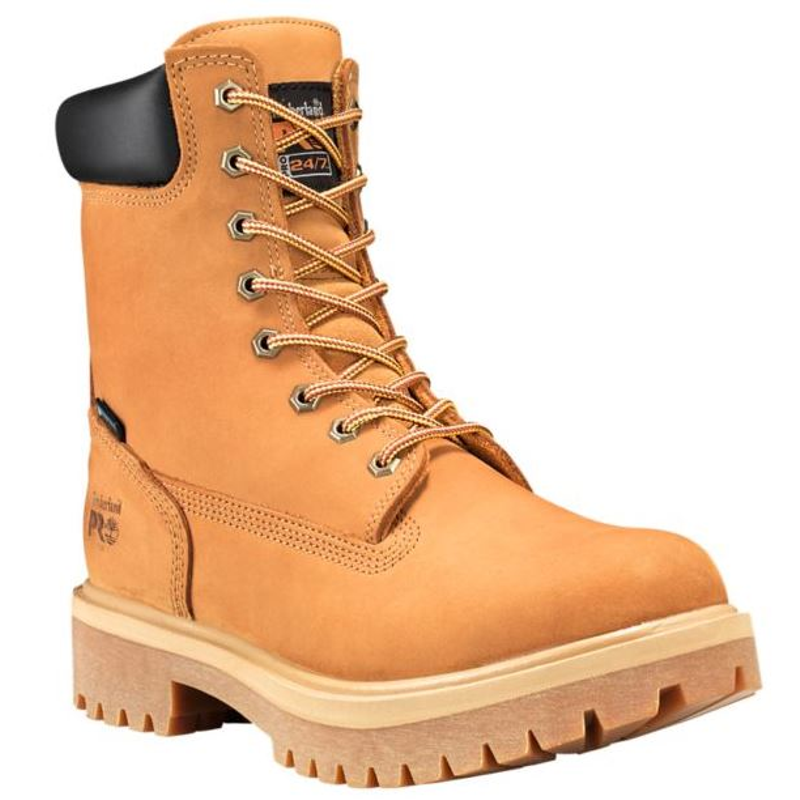 Timberland Pro 8 Inch Wheat Soft Or Steel Toe Directattach Leather Work Boots Steel Toe Work Boots Timberland Boots Women Leather Work Boots