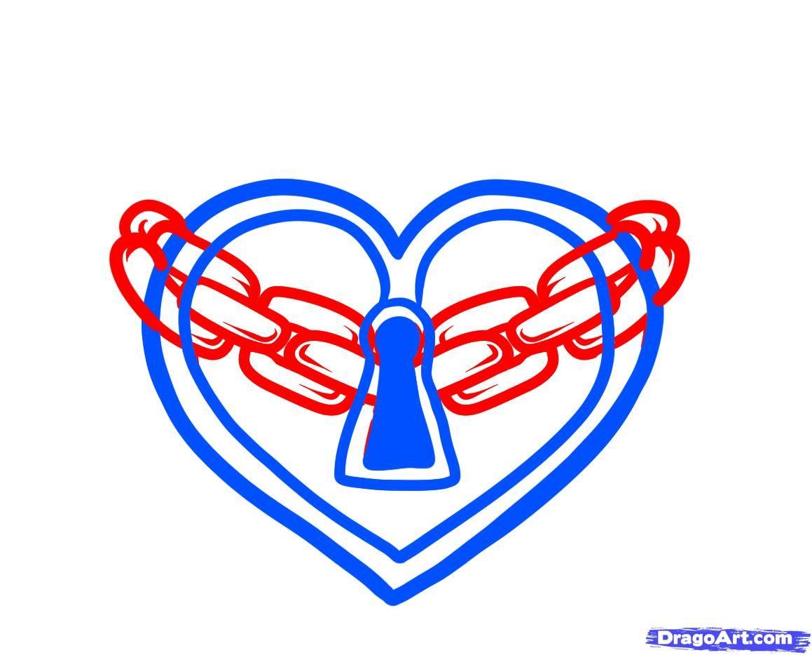 How to draw a heart lock heart lock tattoo step 4 super dessin how to draw a heart lock heart lock tattoo step 4 buycottarizona Gallery