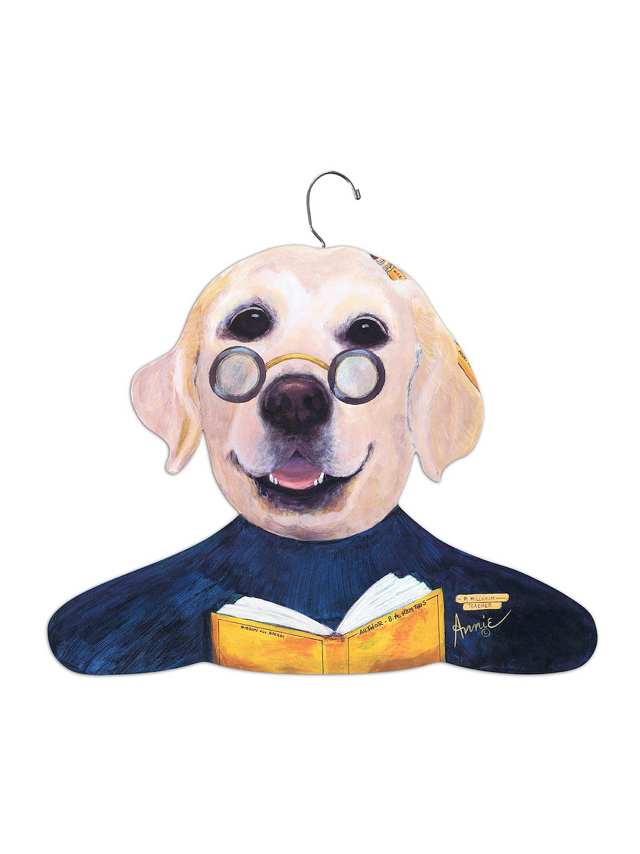 Stupell Home Yellow Labrador Teacher Hanger Vegan Scene Yellow Labrador Pet Breeds Animal Design