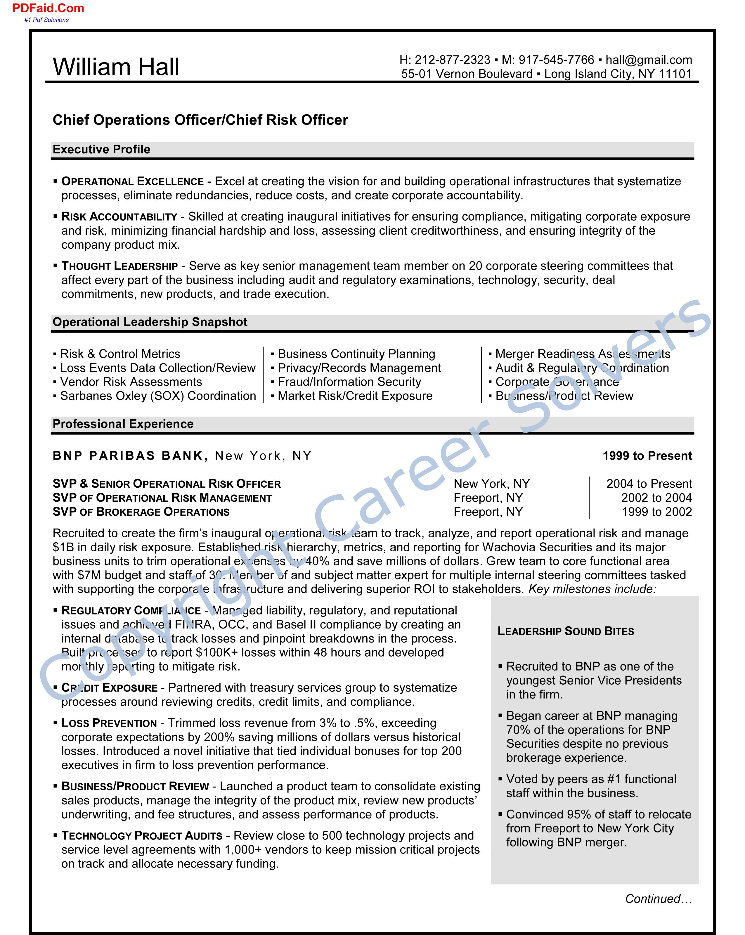 Operations Executive | Resumes & Cover Letters | Cover letter for ...
