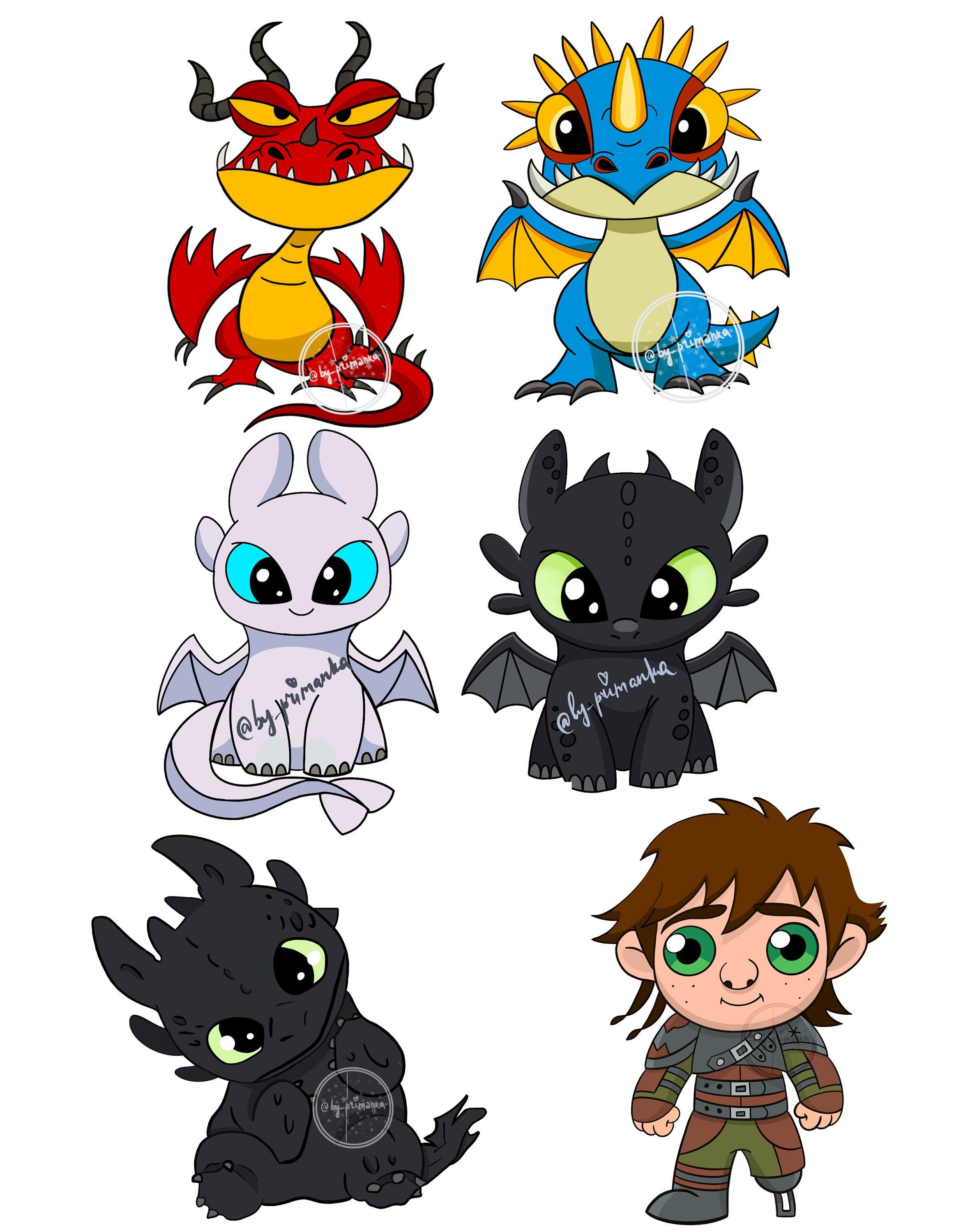 6 Png Baby Dragons Clipart Toothless Night Fury Stormfly Etsy In 2021 How Train Your Dragon Baby Dragon How To Train Your Dragon