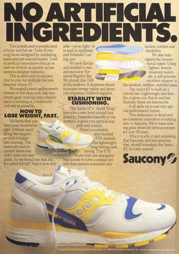 Old school Saucony ad. Adidas 0776e1b04