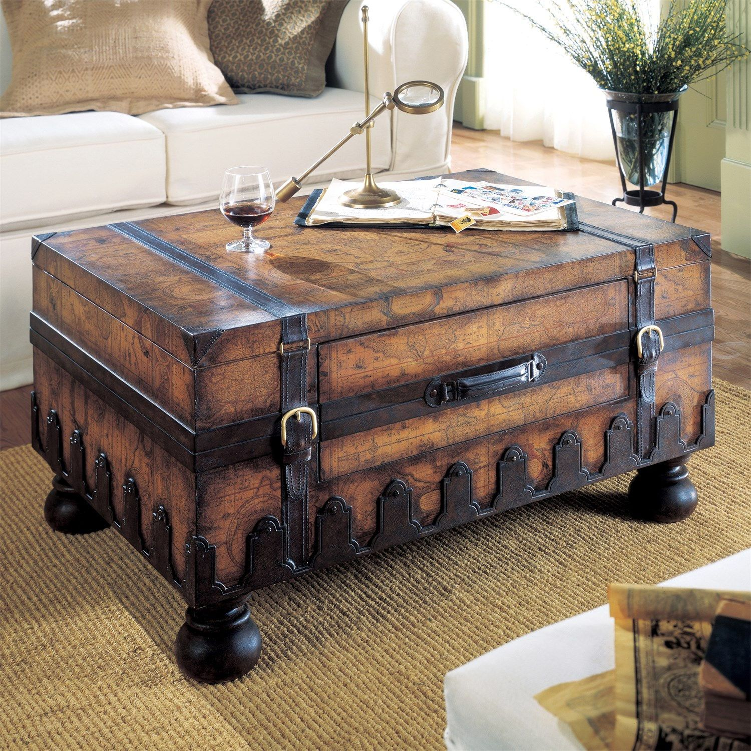 butler 0576070 heritage trunk table | trunk table