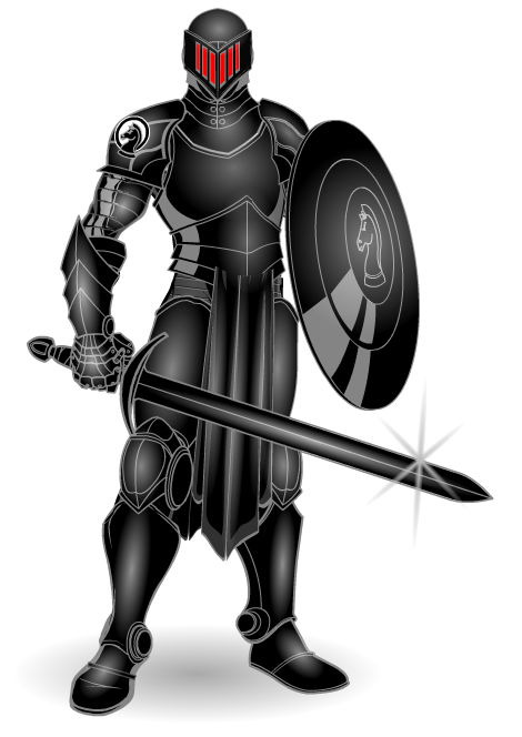 Black Knight Is A An Original Character Created With Heromachine 3 Blackest Knight Comic Art Fans Knight