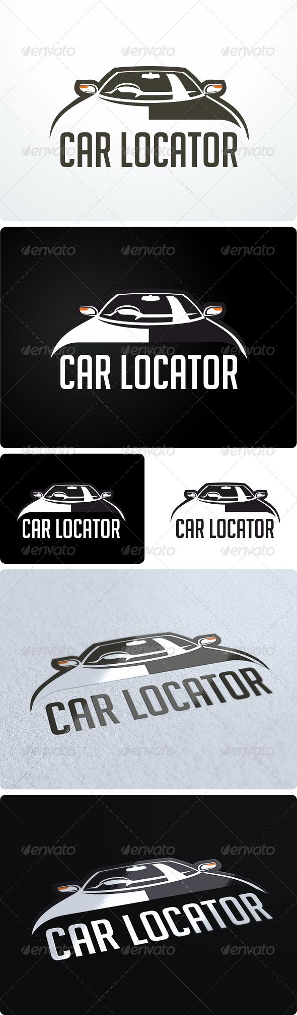 Car body sticker design eps - Car Locator Logo Design
