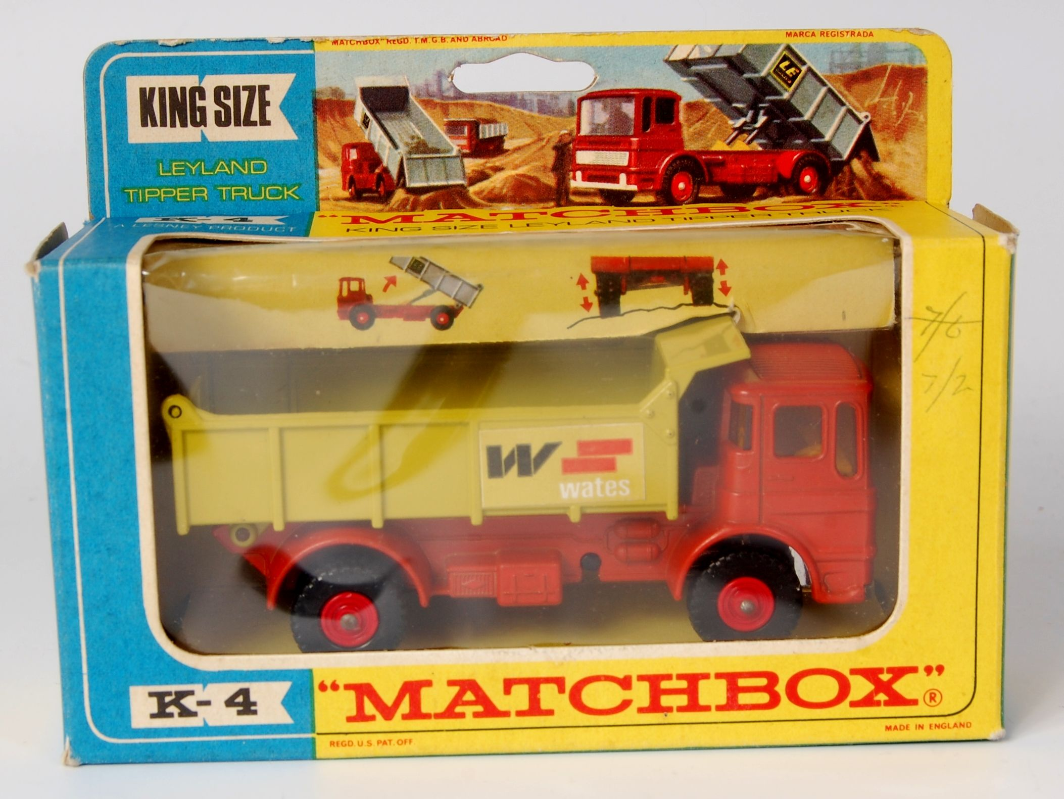 Toys cars 3  Lot   Matchbox Kingsize K Leyland tipper truck  Corgi