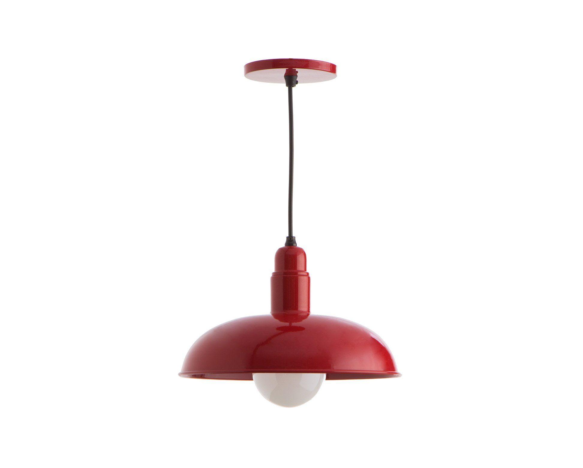 Luminária Pendente Quintana - Vermelho #oppadesign #saladeestar