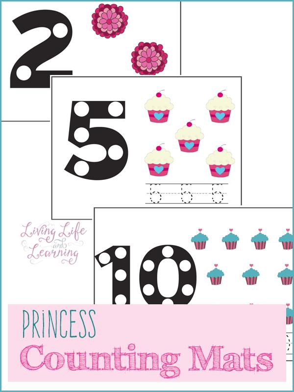 Princess Counting Mats Counting Activities Activities