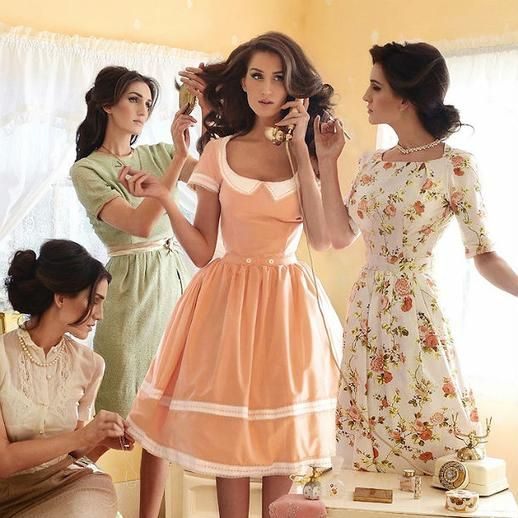 A Model S Self Portrait In The Style Of Stepford Wives Retro Fashion Vintage