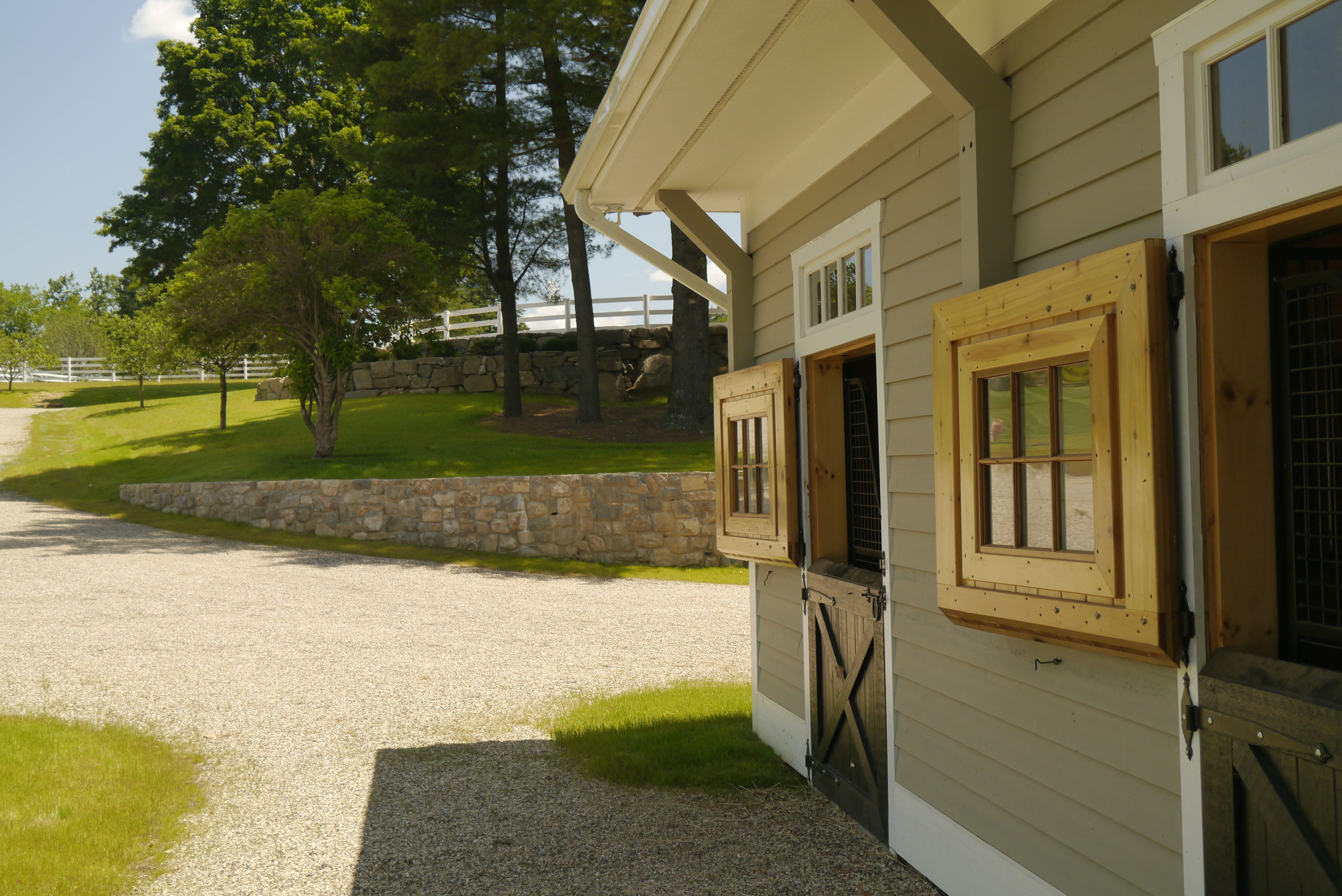 stables at Steeple Chase Farm in Greenwich, CT, Conte ...