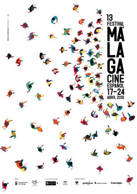 Cartel del 13º Festival de Cine de Málaga/ Barfutura / 2010/ MCG