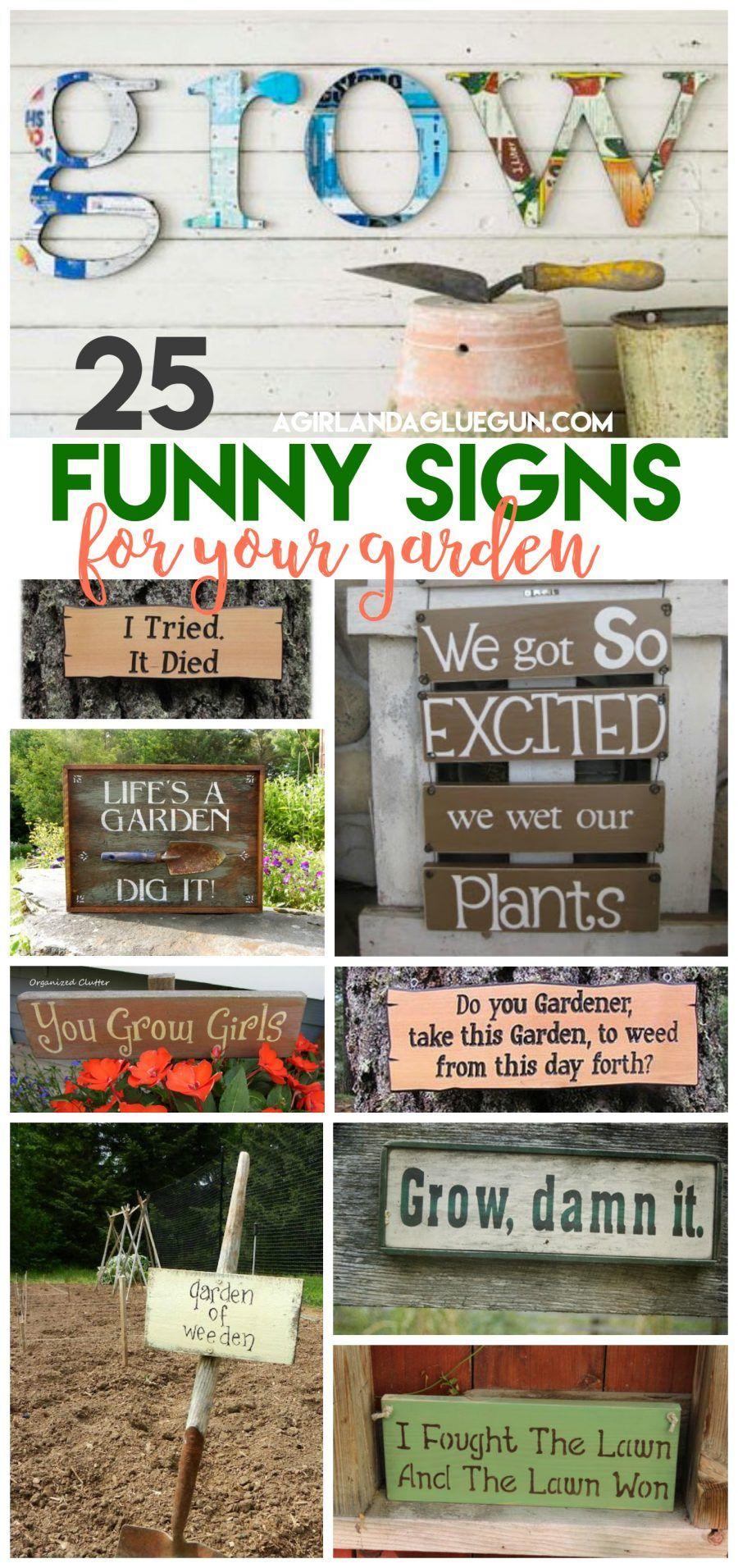 25 super funny Garden signs Funny garden signs, Garden