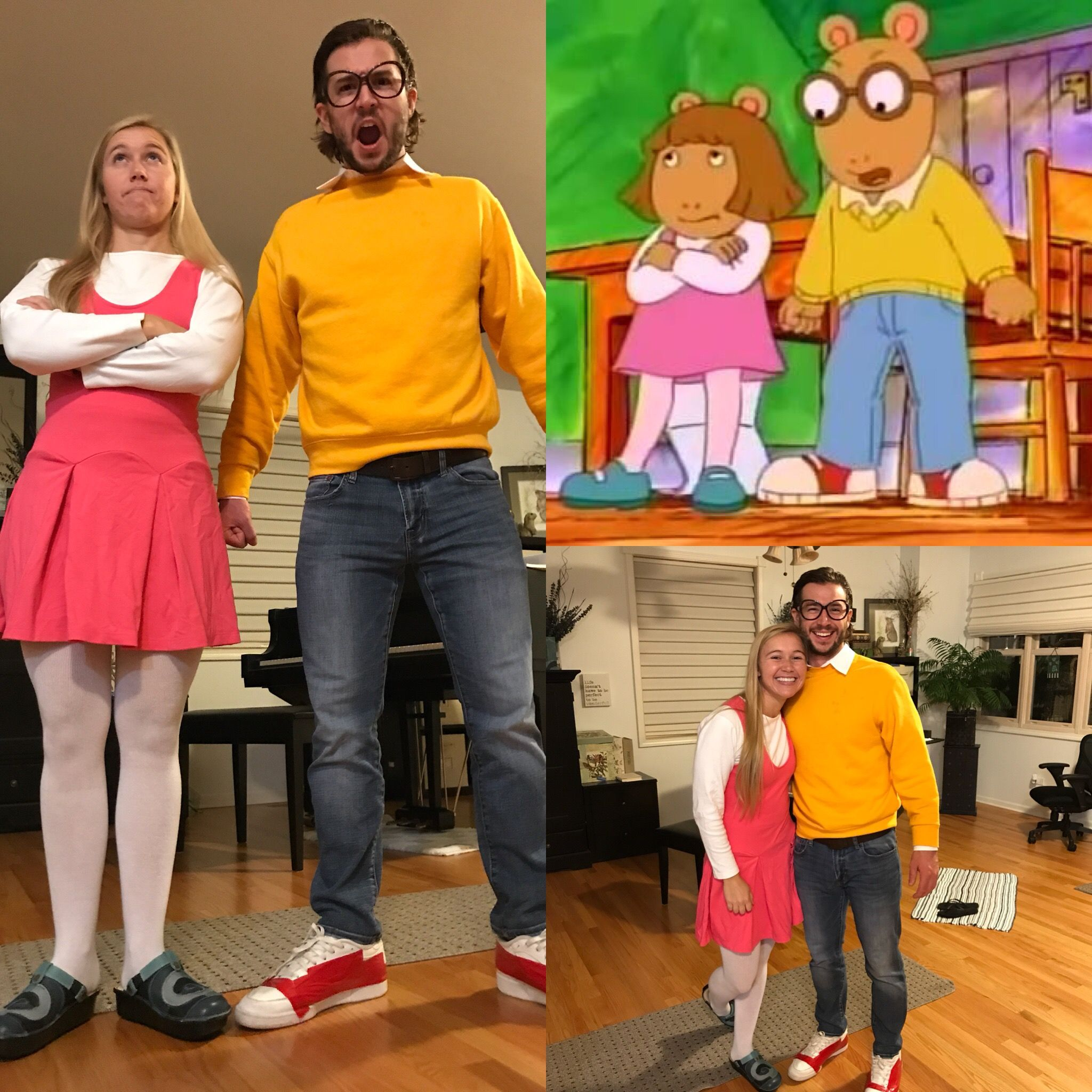 Arthur and DW PBS Kids costume. Easy DIY! Perfect for