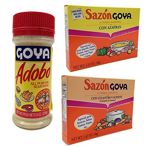 Amazon Com Goya Adobo All Purpose Seasoning 8 Ounces Adobo Sauces Grocery Gourmet Food Adobo Flavor Seasoning Gourmet Recipes