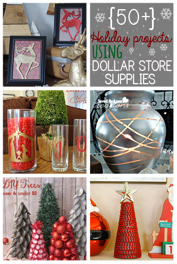 50 plus dollar store christmas projects from johnnie saved by love creations lanier christmas dollarstorecrafts - Dollar Store Christmas Crafts