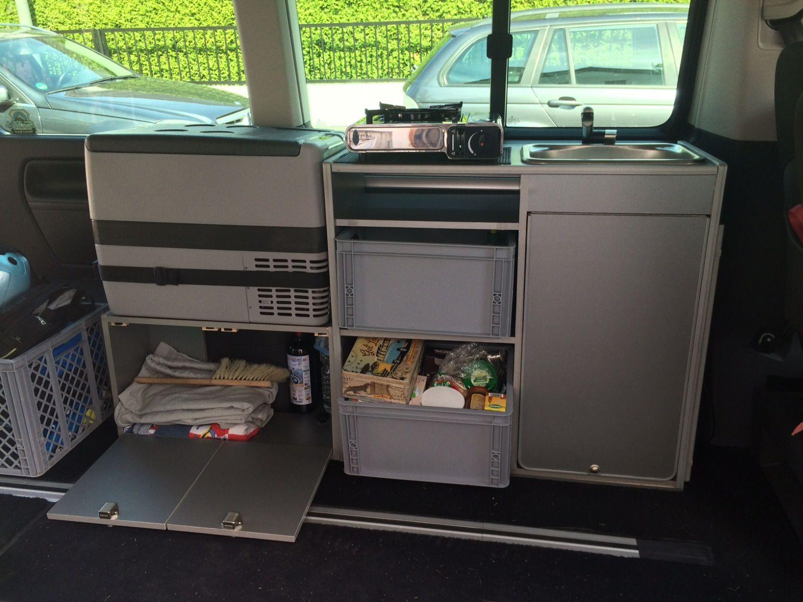Camping küchenblock selber bauen  VW T5 California Beach Ausbau Küche Schrank Spüle Eigenbau nach ...