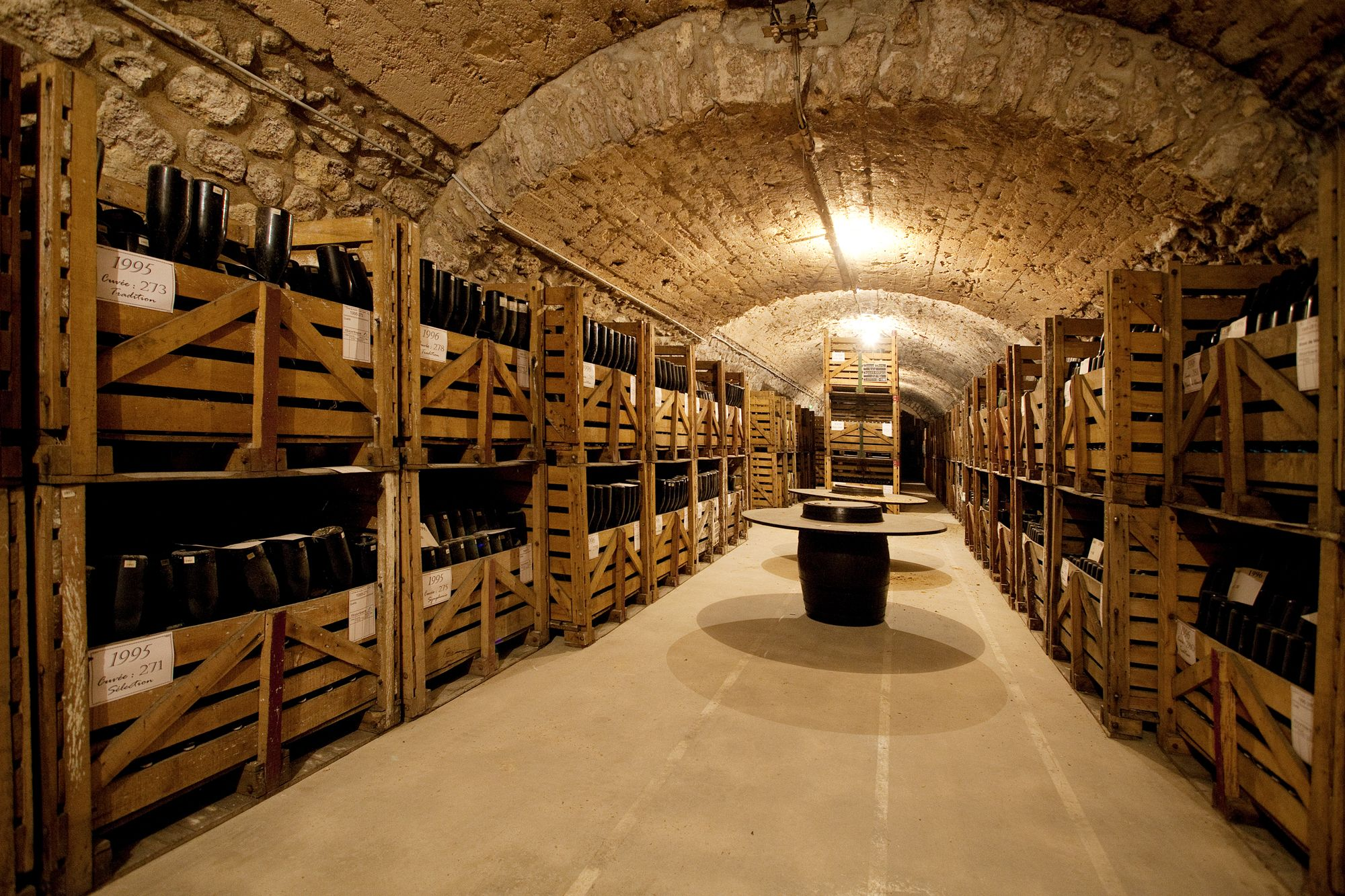 Cave Vinotheque Beautiful Champagne Caves Around Reims France