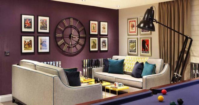 Purple feature wall fireplace google search edwardian - Purple feature wall living room ideas ...