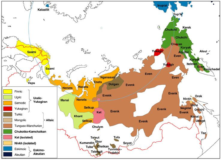 Indigenous People of Northern Eurasia | LAND OF MAPS | Map ...