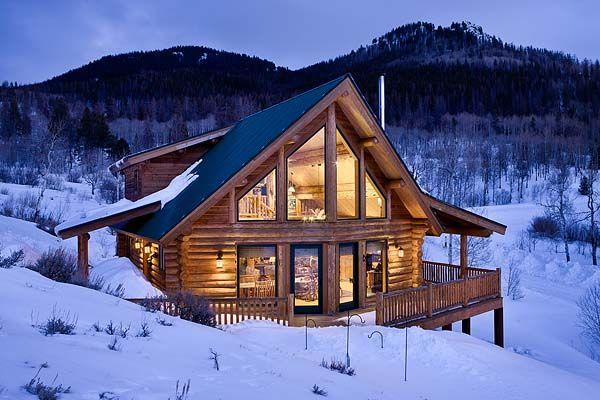 Montana log cabin maison pinterest projet maison chalet et bois - Maison en bois montana cutler ...
