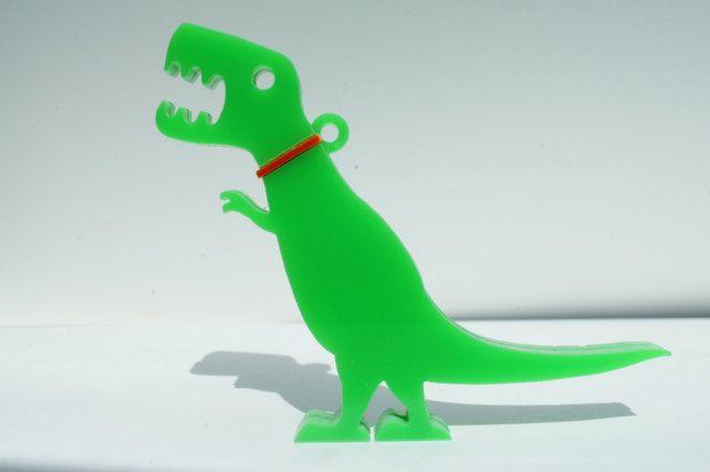 Pet Tyrannosaurus Rex dinosaur pendant or brooch (With