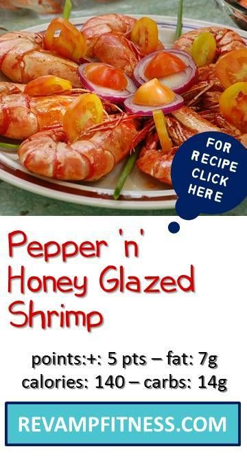 Pepper N Honey Glazed Shrimp Recipe Skinny Recipes Weight
