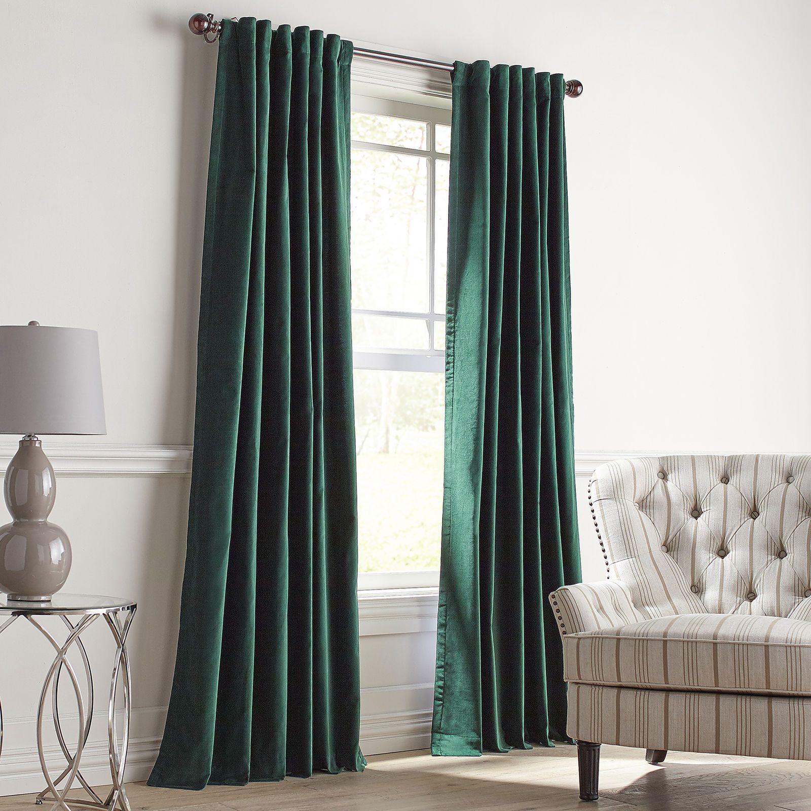 Sheridan Velvet Green Curtain Pier 1 Imports Green Curtains