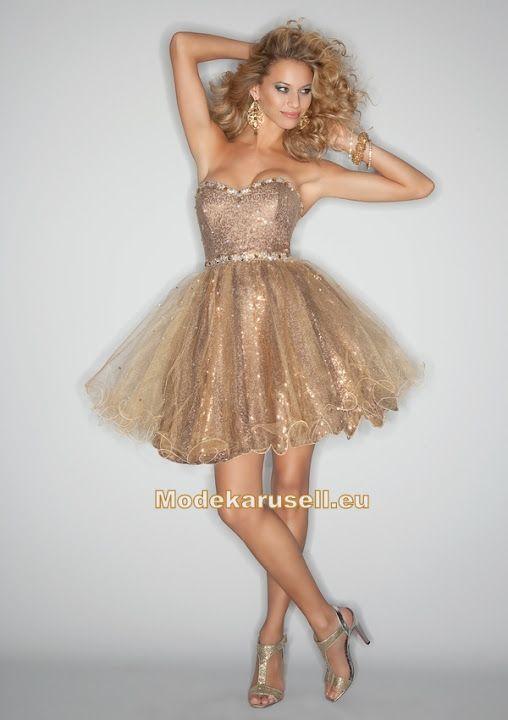 Cocktailkleid Abendkleid Abschlussballkleid Abiballkleid 2013 Gold ...