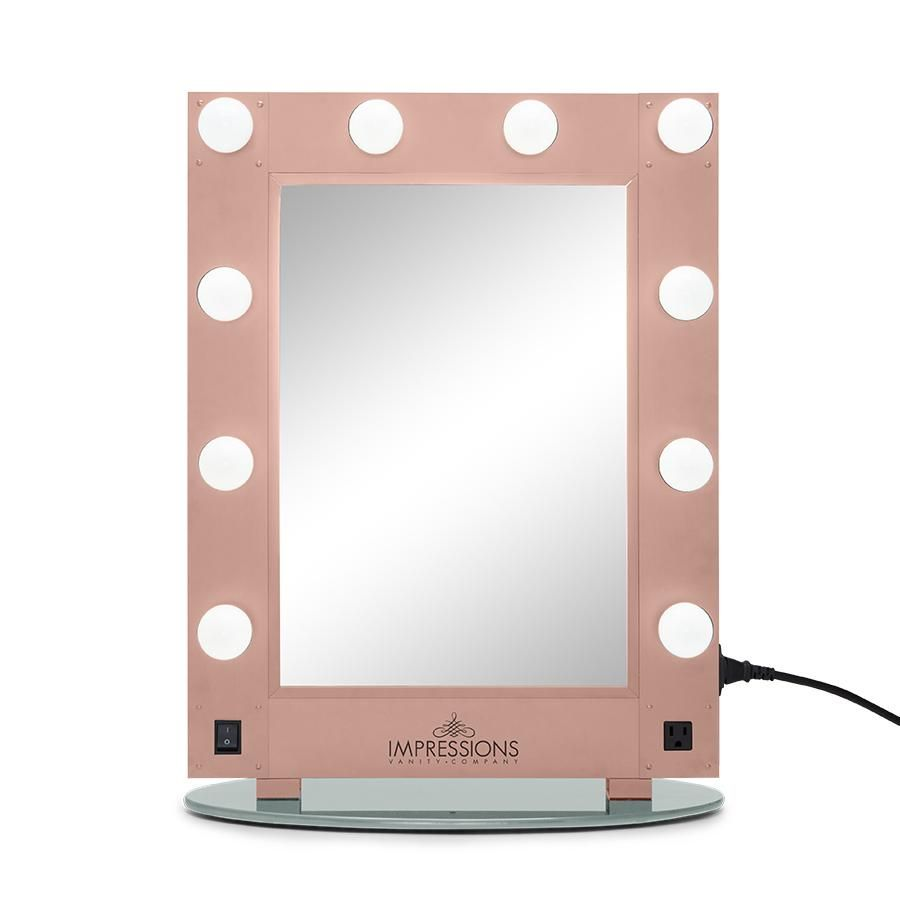 Hollywood Glamour Vanity Mirror With Led Bulbs Bedrooms Ideas