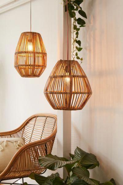 Bamboo Woven Pendant Light | Urban Outfitters #homedecor