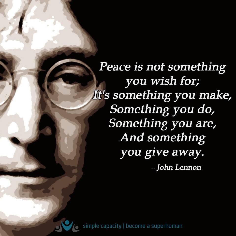 Lennon Legend Emma Board 1 Peace Quotes Quotes Peace