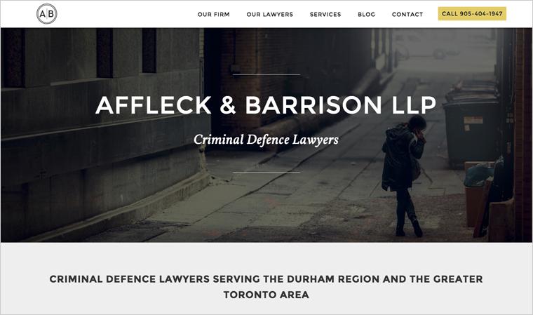 Affleck Barrison Llp Law Firm Website Design Law Firm Website Business Website Design Website Design