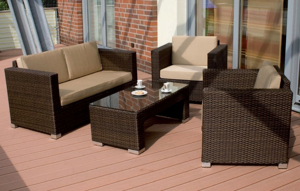 Siena Garden SAPHIR Lounge Bank 2-Sitzer melange-mocca inklusive ...