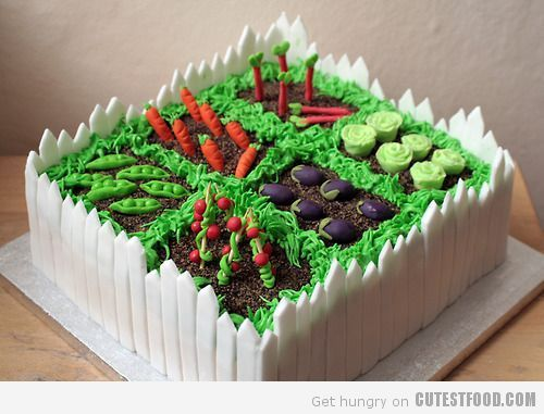 Vegetable Garden Cake | Vegetable garden cake, Garden cakes and Cake ...