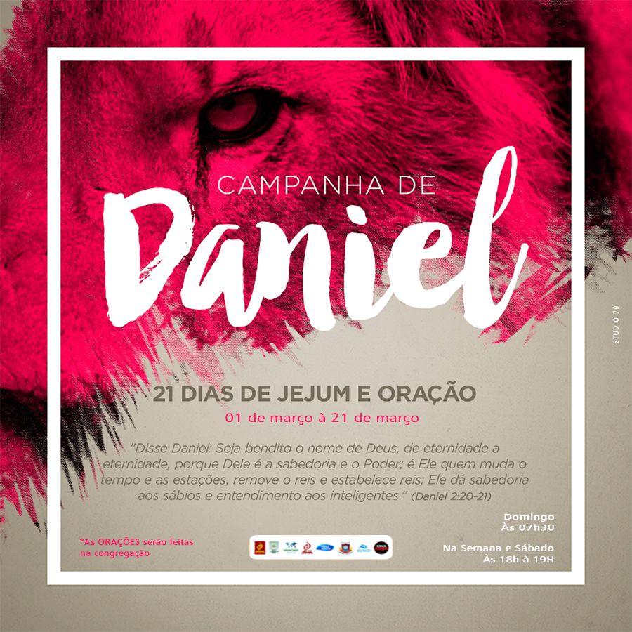 Campanha De Daniel Com Imagens Jejum E Oracao Cartazes