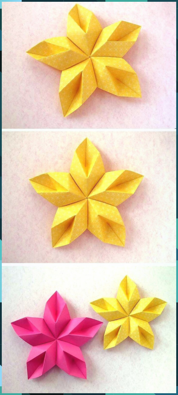 Photo of Unglaubliche Modular Origami: Blumenstern – Blumenstern von Francesco Guarnieri » Origami Anleitung