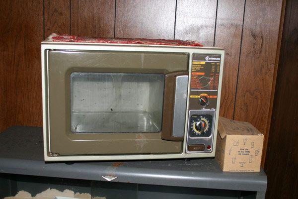 vintage microwave top microwaves
