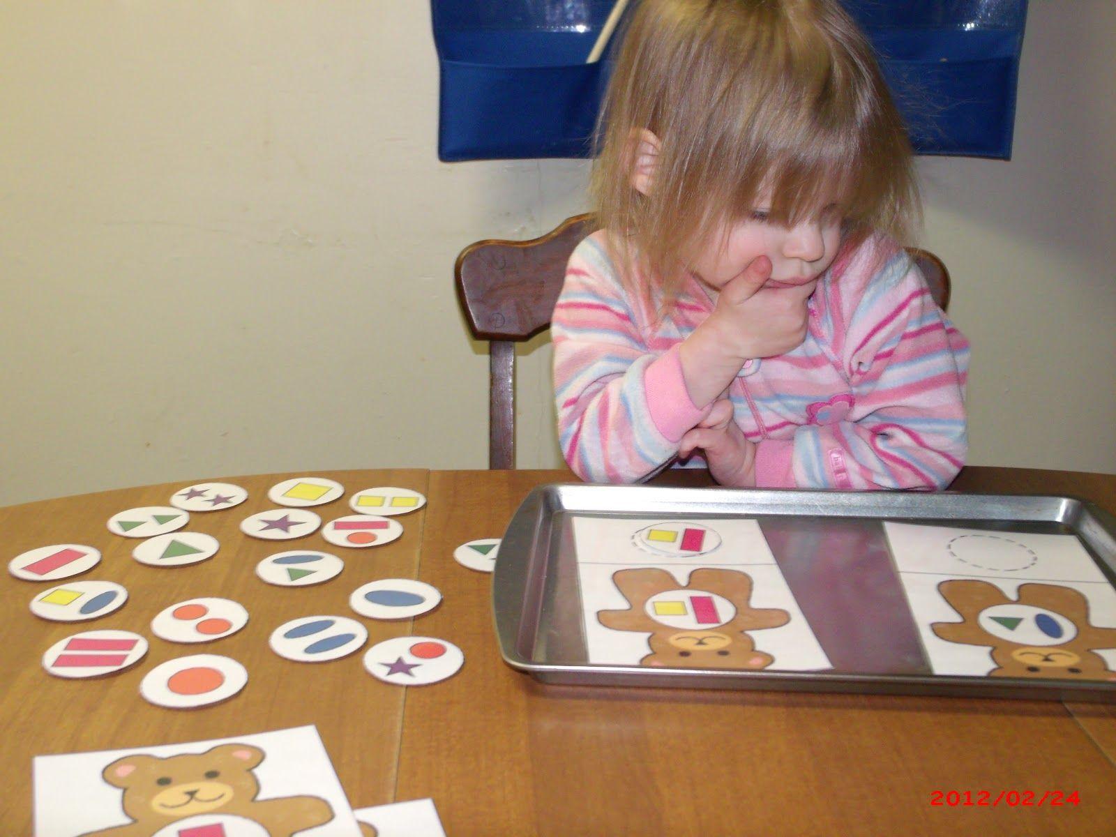 Matching Shapes Amp Colors On Bears Teddy Bear Preschool